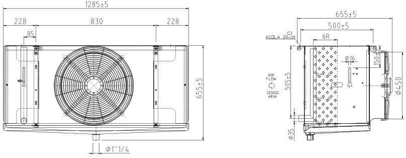 Воздухоохладитель F45HC 1200 N 6 LU-VE