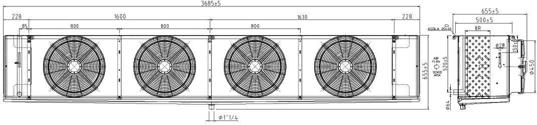 Воздухоохладитель F45HC 1120 E 4 LU-VE