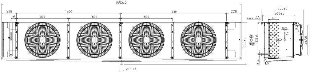 Воздухоохладитель F45HC 1118 N 4 LU-VE