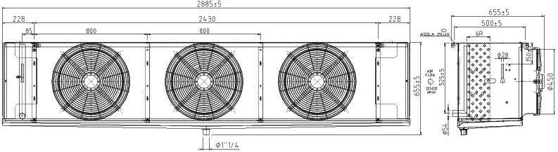 Воздухоохладитель F45HC 1114 E 4 LU-VE