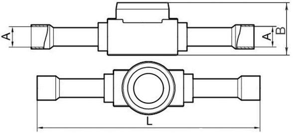 схема смотрового стекла серии BC-SG becool